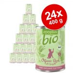 Ekonomipack: zooplus Bio 24 x 400 g - Bio Eko-kyckling med morötter