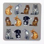 Glasunderlägg Alla katter