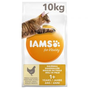 IAMS for Vitality Hairball Adult Chicken 10 kg
