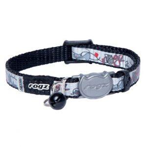 Katthalsband Rogz Reflectocat Black Cat XS