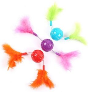 Kattleksaker Feather Twizzlers Bollar 3-pack