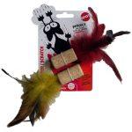 Kattleksaker Kork med fjädrar Spot 2-pack