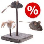 Kattleksakset Wild Mouse med ljud och LED - 2-delat set