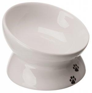 Kattmatskål White ergonomisk