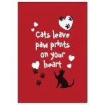 """Kylskåpsmagnet """"Cats leave pawprints"""""""