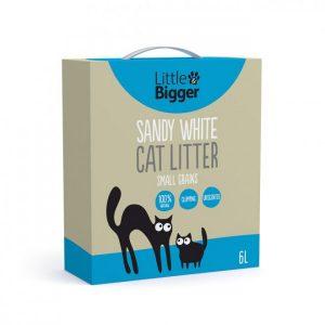Little&Bigger Sandy White Kattsand 6 L