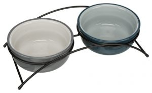 Matbar keramikskålar grå / petrol