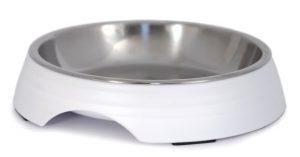 Matskål vit med låg kant