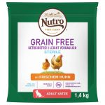 Nutro Cat Grain Free Adult Sterilized Chicken - Ekonomipack: 3 x 4 kg