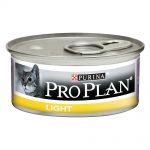 Pro Plan Cat Light - 48 x 85 g Kalkon