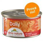 Provpack: 6 x 85 g Almo Nature Daily Menu - Bitar med kött (2 sorter)