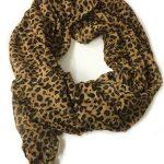 Scarf Leopard mörk