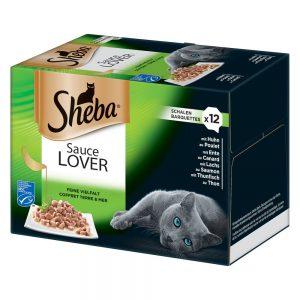 Sheba 12 x 85 g portionsform i blandpack - Selection in Sauce