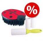 Sparset: klädborste + luddrulle - 10 cm