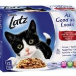 Stort ekonomipack: Latz ''''As good as it looks'''' 120 x 100 g - Nötkött, kyckling, torsk och tonfisk
