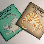Varning för katten-skyltar