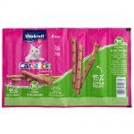 Vitakraft Cat Stick Classic kattgodis Ekonomipack: 24 x 6 g Kyckling & kattgräs
