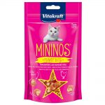 Vitakraft Mininos Snack Cubes Kyckling & ost - Ekonomipack: 3 x 40 g