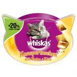 Whiskas Temptations + 20 % mer innehåll - Ekonomipack: Kyckling & ost 6 x 72 g