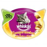 Whiskas Temptations + 20 % mer innehåll - Ekonomipack: Lax 6 x 72 g