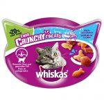 Whiskas Trio Crunchy Treats kattgodis +20 % mer innehåll - Ekonomipack: Kött 6 x 66 g