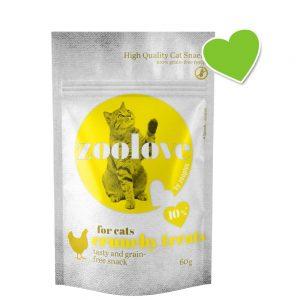 zoolove crunchy treats med kyckling - 60 g