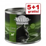 5 + 1 på köpet! Wild Freedom Adult 6 x 200 / 400 g - NY Kitten Wide Country - Veal & Chicken 6 x 200 g