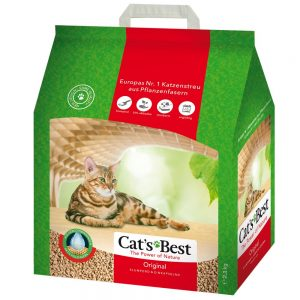 Cat's Best Original kattströ - Passande skopa