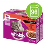 Ekonomipack: 96 x 85 / 100 g Whiskas - 1+ Creamy Soups Klassiskt urval 85 g