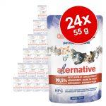 Ekonomipack: Almo Nature HFC Alternative Cat 24 x 55 g Kycklingfilé