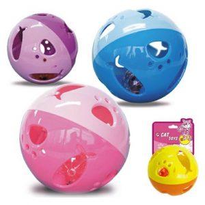 Kattleksaker Aktiveringsboll globus, Rosa