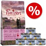 Provpack Kitten: Purizon 400 g & Cosma Nature 6 x 70 g - Purizon + Cosma med kyckling & tonfisk