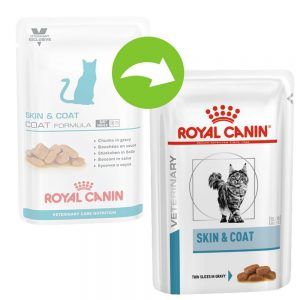 Royal Canin Adult Skin & Coat - Vet Care Nutrition - 24 x 100 g
