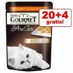 20 + 4 på köpet! Gourmet a la Carte 24 x 85 g - Lax
