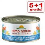 5 + 1 på köpet! Almo Nature 6 x 70 g - Kitten Kyckling