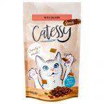 Catessy Knapersnacks 65 g - Ekonomipack: 3 x 65 g Lax, vitaminer & omega-3