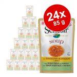 Ekonomipack: Schesir Cat Soup 24 x 85 g - Vild tonfisk & papaya