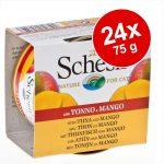 Ekonomipack: Schesir Fruit 24 x 75 g - Tonfisk & mango