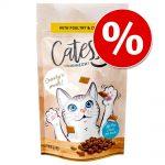 Stort ekonomipack: 15 x 65 g Catessy Knapersnacks - Blandpack 3 sorter