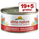 19 + 5 på köpet! Almo Nature 24 x 70 g - Kyckling & lever