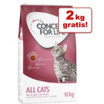 7 /8 kg + 2 kg på köpet! Stor Concept for Life torrfoder - Outdoor Cats 7+2kg