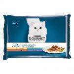 Blandat provpack: Gourmet 4 x 85 g - Perle: Kalkon, Tonfisk, Anka och Lamm