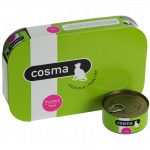 Cosma Original i gelé 6 x 170 g Mix II: Pacific tonfisk, Skipjack tonfisk, Kycklingbröst, Lax