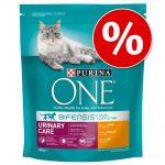 Ekonomipack: 2, 3 eller 6 påsar Purina ONE kattfoder - Indoor Formula (3 x 3 kg)