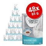 Ekonomipack: Concept for Life 48 x 85 g - All Cats 10+ i gelé