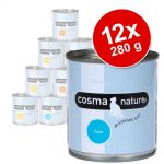 Ekonomipack: Cosma Nature 12 x 280 g Kyckling & tonfisk med ost