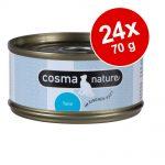 Ekonomipack: Cosma Nature 24 x 70 g Pacific tonfisk