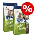 Ekonomipack: Happy Cat - Indoor Adult Lamb (2 x 4 kg)