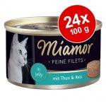 Ekonomipack: Miamor Fine Filets 24 x 100 g - Tonfisk & ost i gelé