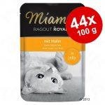 Ekonomipack: Miamor Ragout Royale i gelé 44 x 100 g - Kalkon